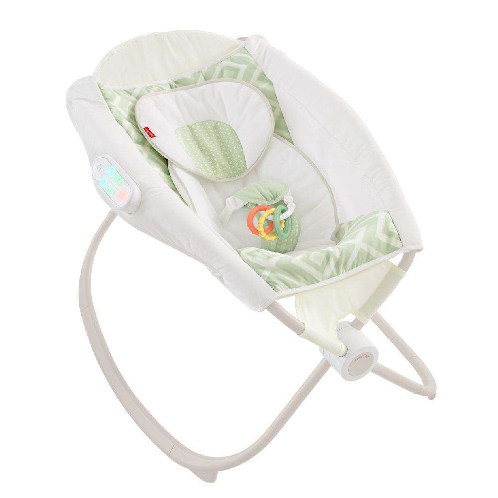 Fisher Price Deluxe Rock 'n Play Sleeper with Smartconnect, Serene Green by Fisher-Price