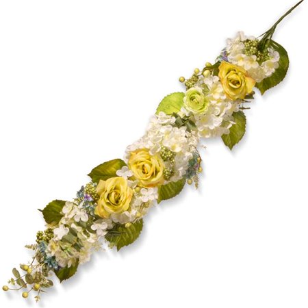 48 in. Decor Garland with Roses, Hydrangeas & Mixed Flowers