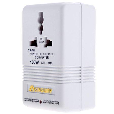Voltage Converter 100w Adapter Ac 110v 120v To 220v 240v Us Down Volt Transformer