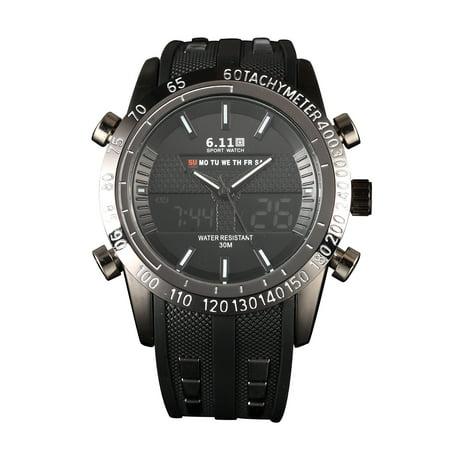 Steel Date Display (Alarm Luminous Outdoor Quartz Digital Watch Date Display Stainless Steel)