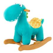 2020 Child Rocking Horse Toy, Stuffed Animal Rocker Toy, Blue Dinosaur Rocker for Kid 1-3 Years, Wooden Rocking Horse Plush/Outdoor Rocking Horse/Rocker/Animal Ride/Child Rocking Toy/Dragon Rocker