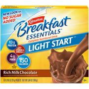 Carnation Breakfast Essentials Light Start Powder Nutritional Breakfast Drink Mix, Rich Milk Chocolate, 8 - 0.705 OZ Packets