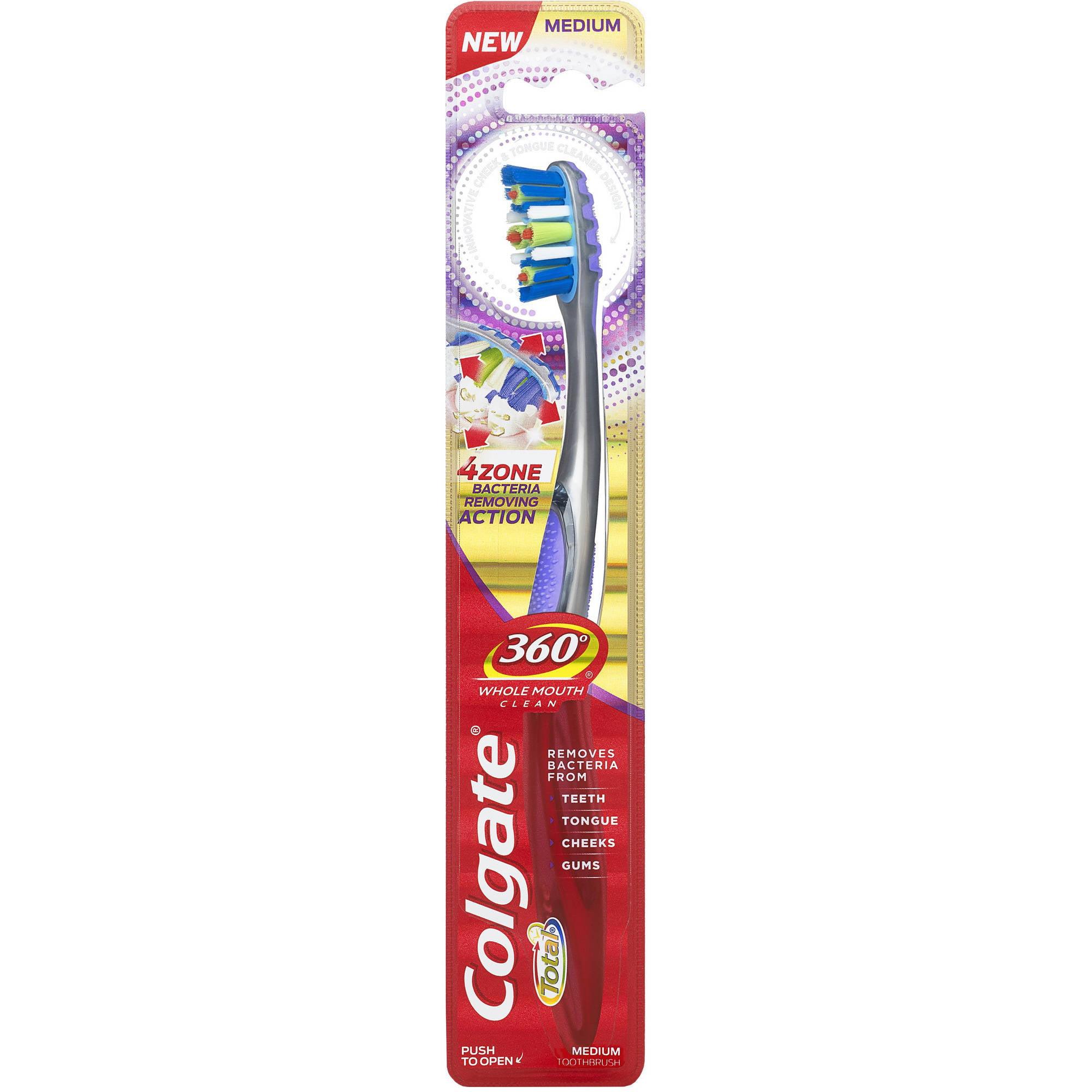 Colgate 360 Advanced 4 Zone Toothbrush, Medium