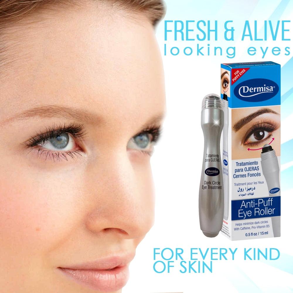 Dermisa Anti-puff Eye Roller 0.5 Fl Oz / 15 ml. Pack of 6 Glotherapeutics Ultra 15 Percent Vitamin C, 1 Oz