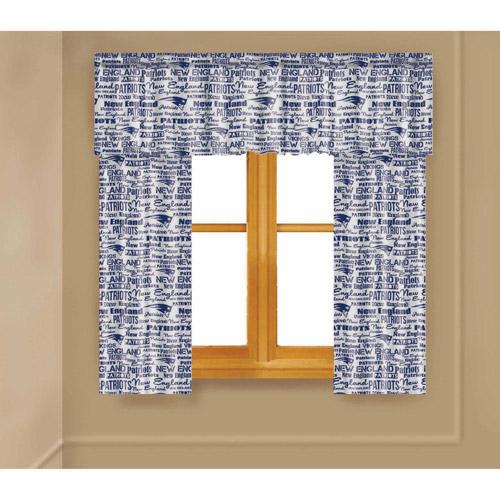 NFL New England Patriots Window Curtain Panels