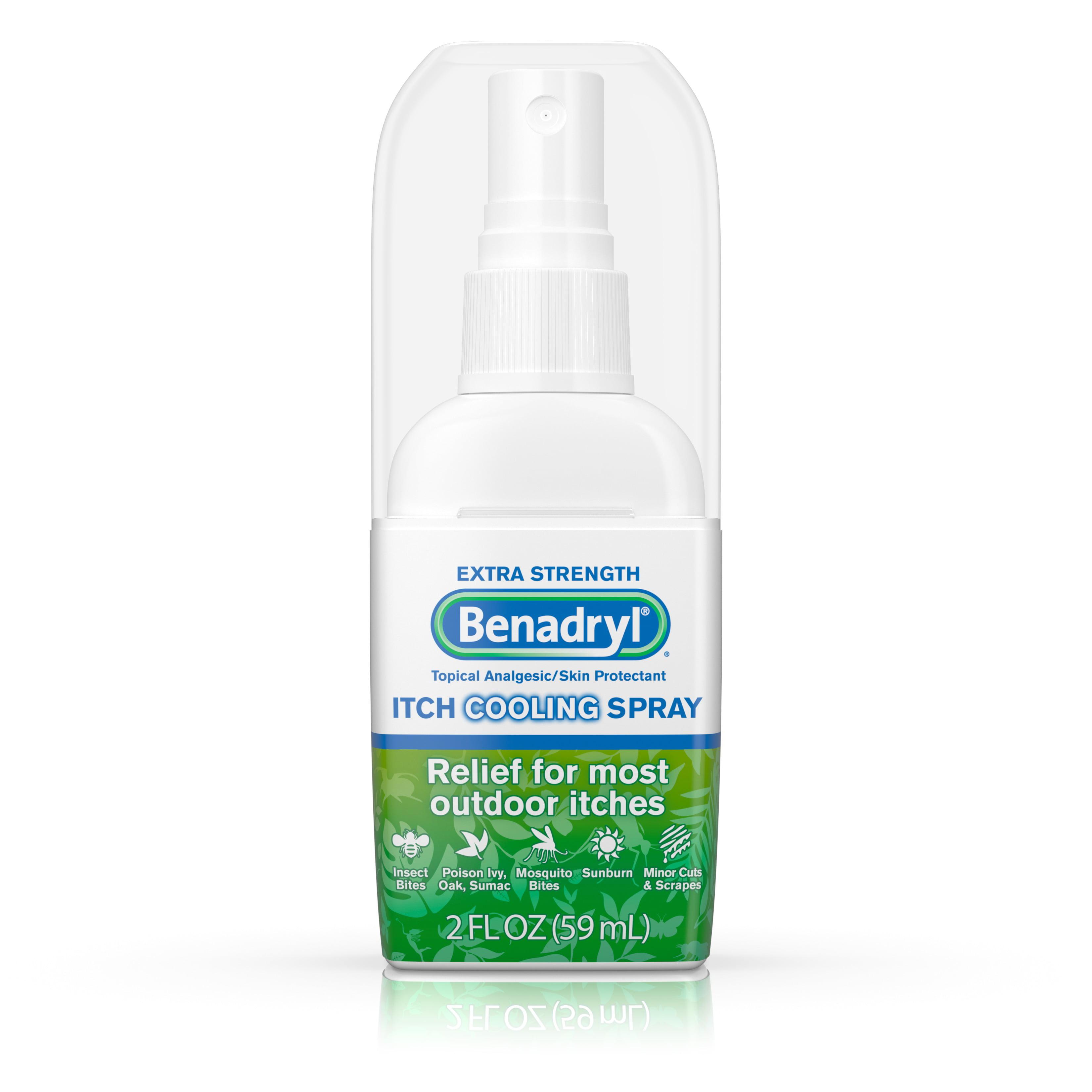 Benadryl Extra Strength Anti-Itch Cooling Spray, Travel Size, 2 fl. oz