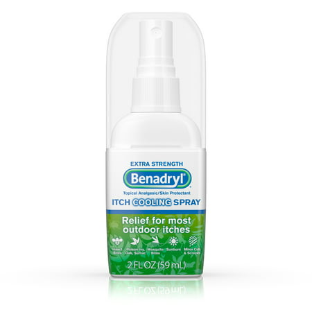 Benadryl Extra Strength Cooling Antihistamine Anti-Itch Spray, Travel Size, 2 Fl. Oz spray bottle
