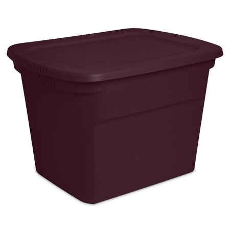 Sterilite 18 Gal Tote, Metropolis Burgundy (Available in Case of 8 or Single)
