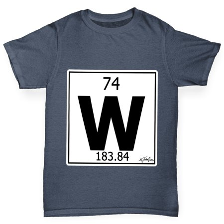 Boys t shirt periodic table element w tungsten kids funny tshirts boys t shirt periodic table element w tungsten kids funny tshirts walmart urtaz Choice Image