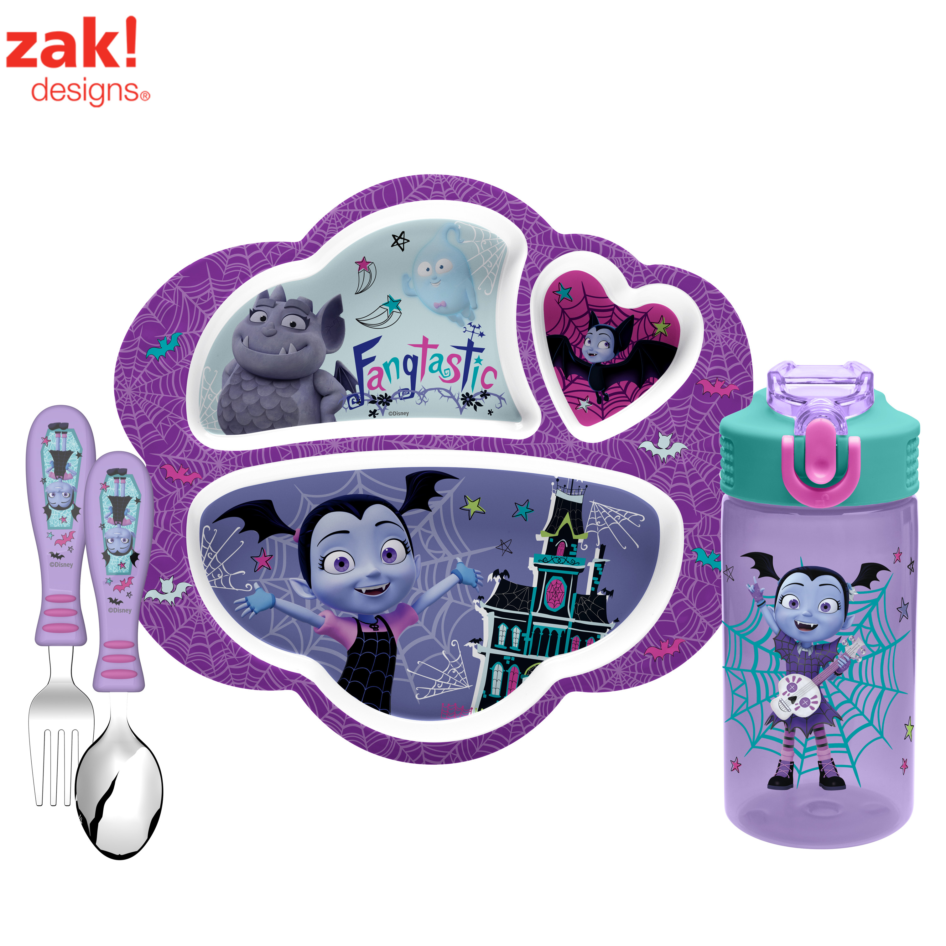 Nick Jr. Vampirina Plate, Tumbler & Flatware , 3-piece set