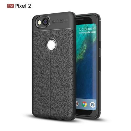GOOGLE PIXEL 2 CASE, Pixel 2 Case, KAESAR Premium TPU [Leather Texture Design] Slim Fit Flexible Lightweight Shock Absorbent Drop Protection Protective Case Cover for for Pixel 2 -