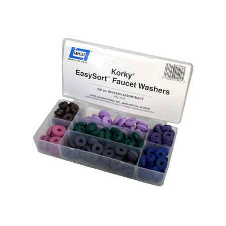 Korky 000149 Easysort Faucet Washer Kit, 200 Piece
