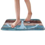 Uarter Anti-slip Kitchen Mat Bathroom Rug Soft Absorbent Floor Bath Carpet with Non-slip SBR Backing, 23.6''x15.7''