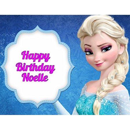 Frozen Elsa Anna Edible Image Photo Cake Topper Sheet Personalized Custom Customized Birthday Party - 1/4 Sheet - 78301 (Cake Toppers Frozen)