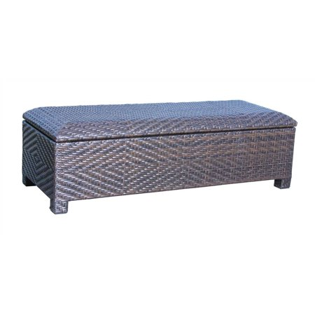 Tremendous Hudson Brown Wicker Storage Ottoman Caraccident5 Cool Chair Designs And Ideas Caraccident5Info