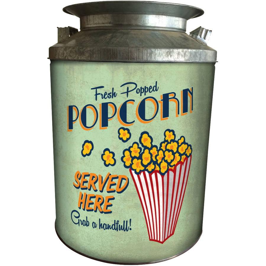 Signature Brands LLC Vintage Popcorn Milk Tin Holiday Gift,  24 oz