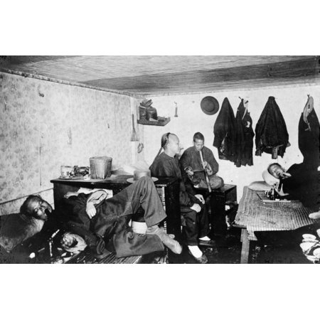 Chinatown Opium C1921 Nopium Smokers At A Den In Chinatown San Francisco  Photographed C1921 Rolled Canvas Art - (24 x 36)