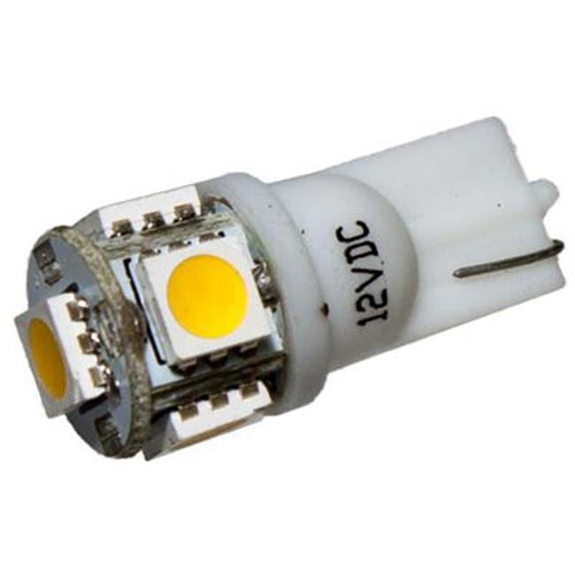 Birddog Distributing Inc.  T10W-5-WW 5 LED 12V Warm White Wedge Automotive Bulbs