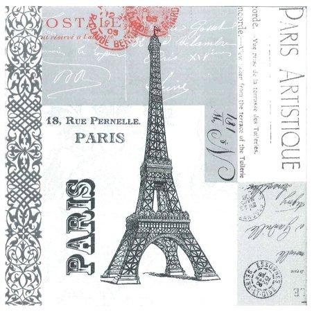 6902 Paris Eiffel Tower Paper Luncheon Napkins,6.5