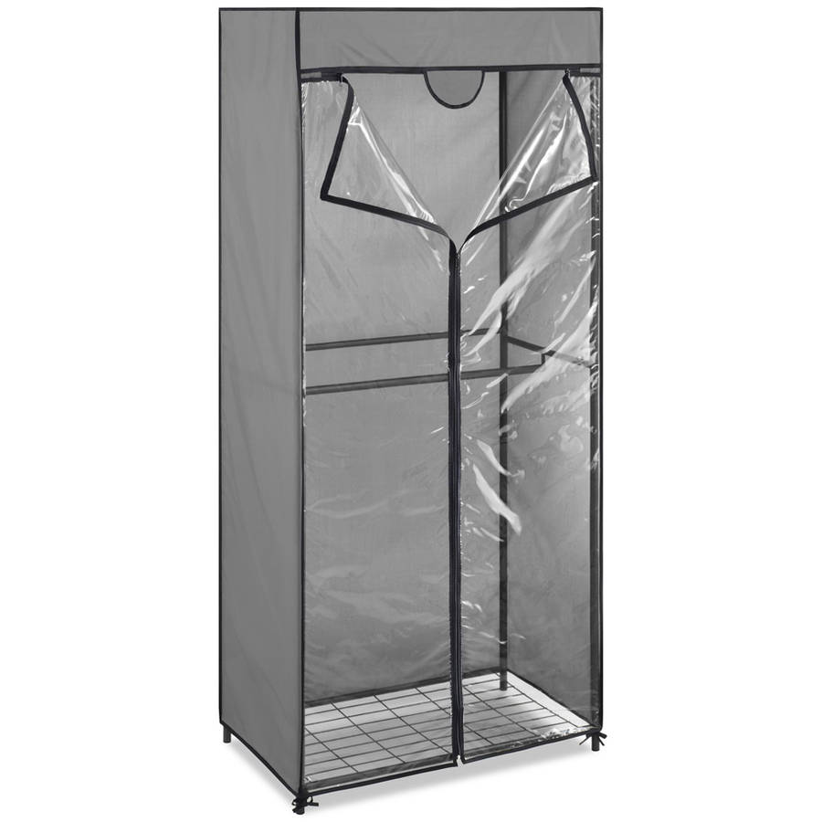 Double Rod Portable Closet with Cover