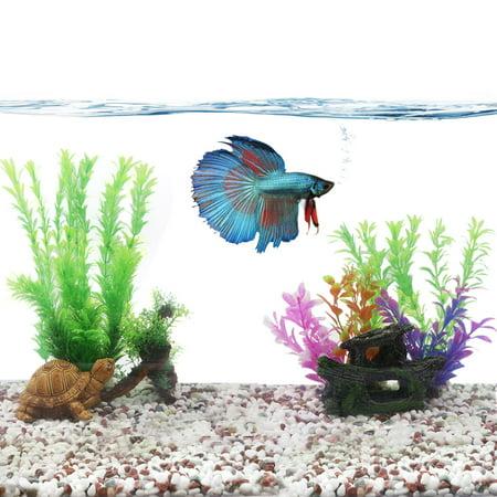 Aquarium landscape idea fish tank decoration plastic plant for Betta fish tank decorations