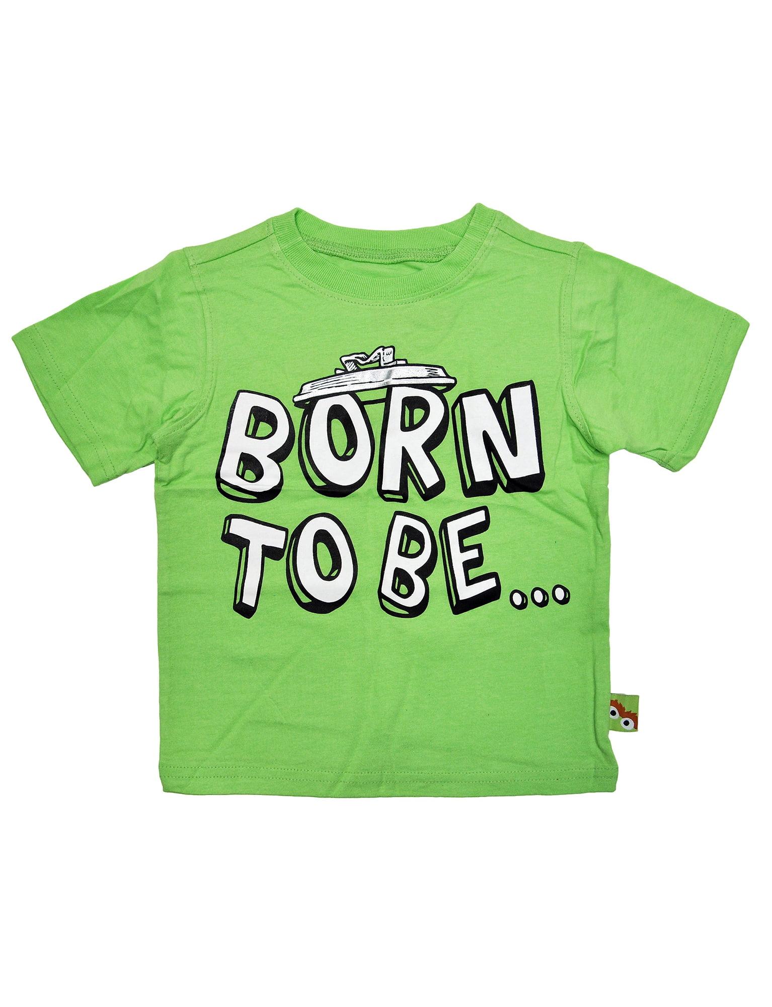 LOGOSHIRT Sesame Street Childrens Tee Oscar the Grouch Kids T-Shirt green