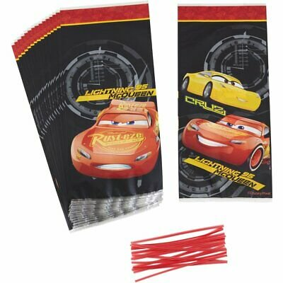 Disney Pixar Cars 3 Treat and Candy Bags - 16 Count - 1912-7109 - National Cake Supply - Abc Cake Supply