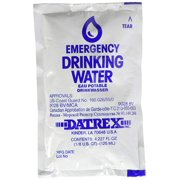 DATREX Emergency Water Pouch for Disaster or Survival 128 Count