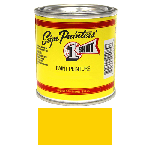 1/2 Pint 1 Shot CHROME YELLOW Paint Lettering Enamel Pinstriping & Graphic Art