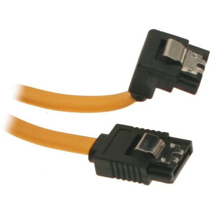 SATACables 13in SATA III Cable Straight to Right Angle
