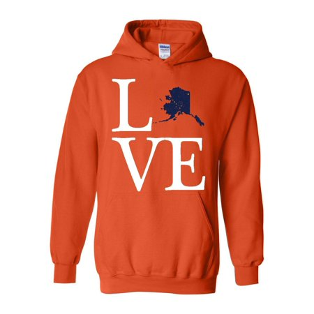 - Love Alaska Unisex Hoodie Hooded Sweatshirt