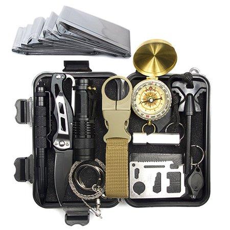 A3 Outdoor Equipment Survival Treasure Box Survival Tool Set 12 In 1 - image 4 de 6