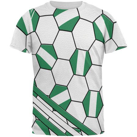 super popular 77196 1d0ba World Cup Nigeria Soccer Ball All Over Mens T Shirt