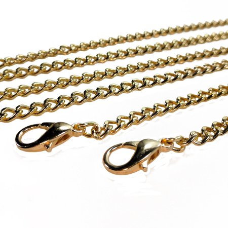 Metal Crossbody Bag Shoulder Bag Handbag Handle Replacement Bag Chain Strap - Gold