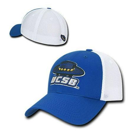 UC Santa Barbara Gauchos UCSB Flex Mesh Baseball Fitted Ball Cap Hat - Spanish Gaucho Hat