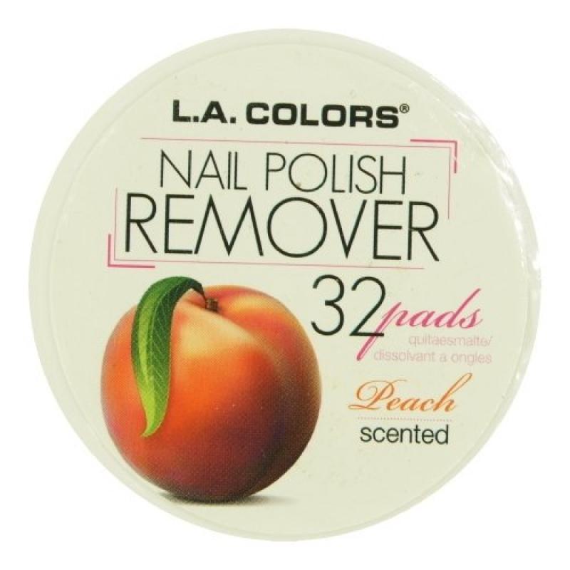 (3 Pack) LA COLORS Polish Remover Pads - Peach Scent