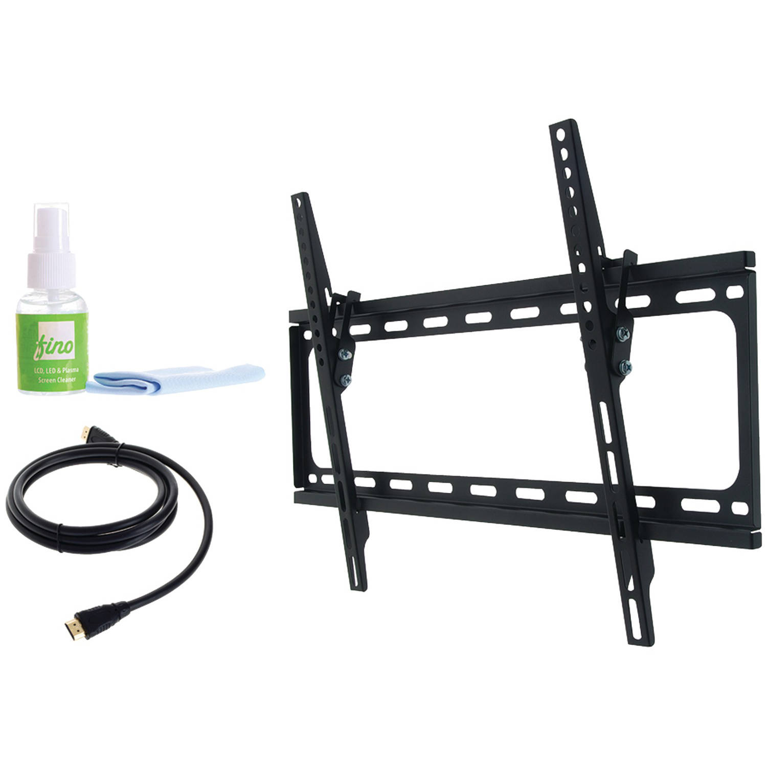 "Fino Ft64k2 30""-65"" Large Tilt Mount with HDMI Cable and Screen Cleaner"