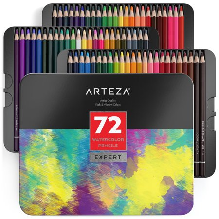 Arteza Professional Watercolor Pencils (Set of 72) for $<!---->
