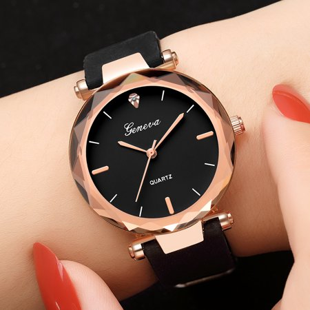 Iuhan Fashion Womens Ladies Watches Geneva Silica Band Analog Quartz Wrist Watch