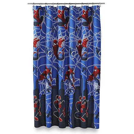 MARVEL Ultimate Spiderman Hero Micro Fiber Shower Curtain