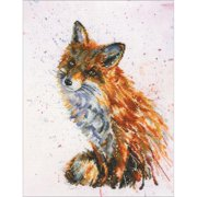 "Foxy Counted Cross Stitch Kit-8.75""X11.5"" 16 Count"