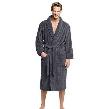 Hanes Classics Big and Tall Soft Touch Fleece Robe (Charcoal Grey - Big And Tall Robe