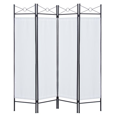 Best Choice Products 6ft 4-Panel Folding Privacy Screen Room Divider Decoration Accent for Bedroom, Living Room, Office w/ Steel Frame - - Cardboard Room Divider