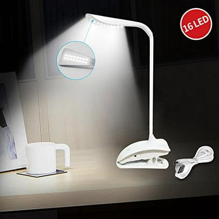 Le Dimmable Desk Lamp Rechargeable Clip Led 16 Leds Gooseneck Portable