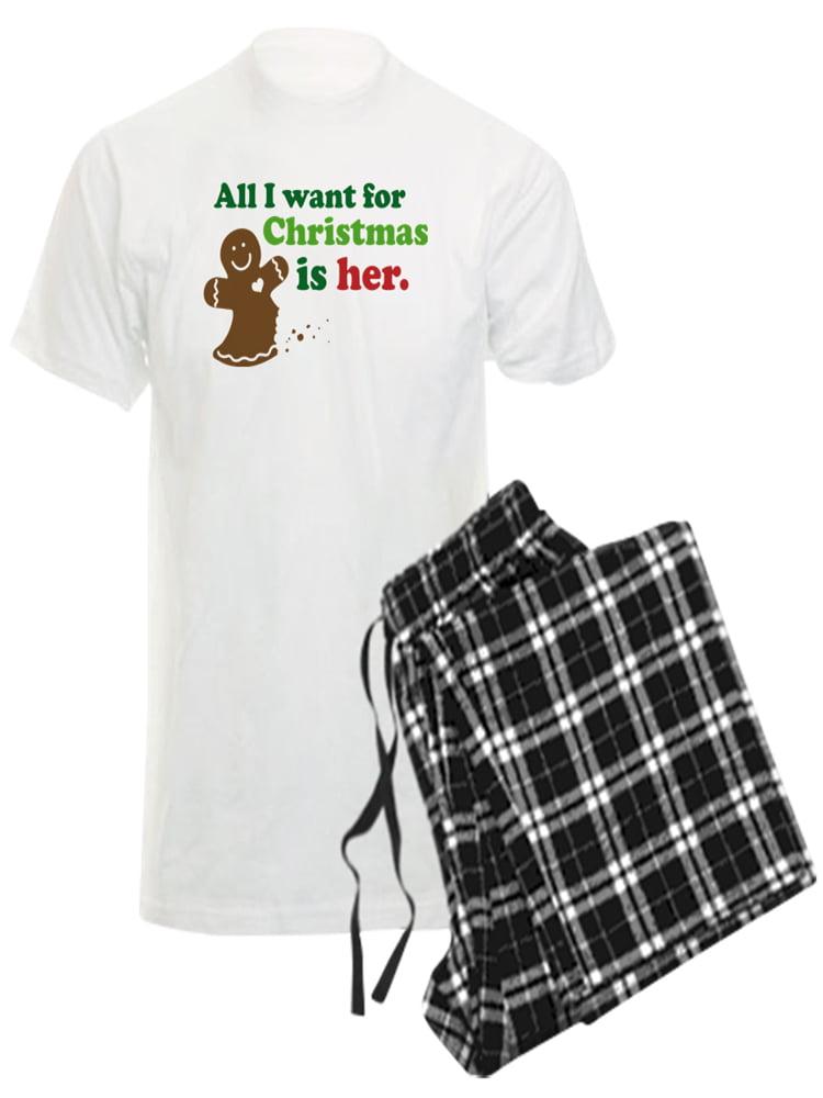 CafePress Christmas Couples Dating Mens Dark Pajama Set