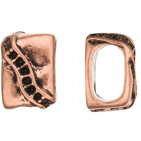 Slope Channel Design Licorice Charms Fits Licorice Leather Cord Antique Copper Plated 11x16mm Fit 17pcs Pp14 Crystals Sold per pkg of 4pcs
