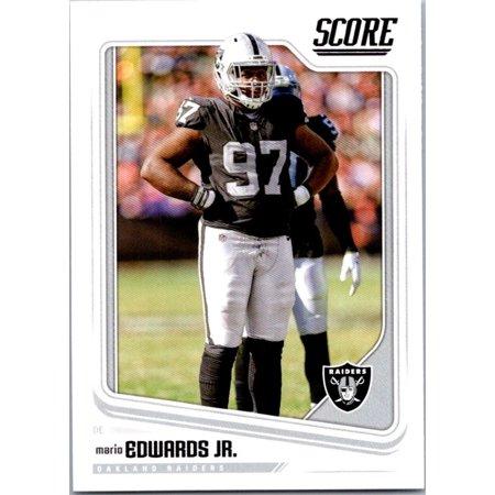 2018 Score #256 Mario Edwards Jr. Oakland Raiders Football Card