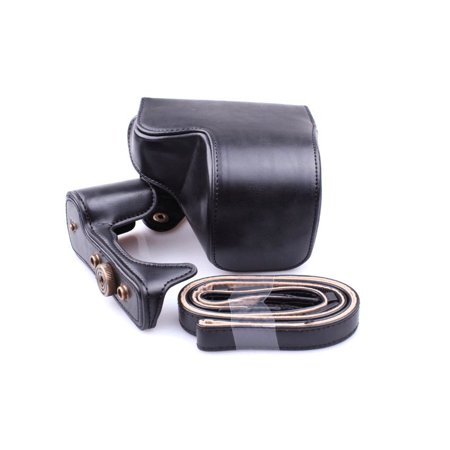 Leather Camera Bag Case Cover Pouch For Sony A6000 A6300 NEX6