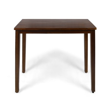 Taylo Contemporary Acacia Wood Bar Height Table, Rich Mahogany Finish Finished Bar Table