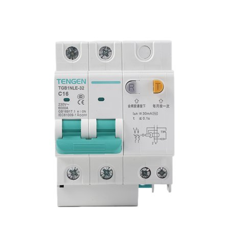 babydream1 230V 2P leakage protective breaker with Overcurrent Protection Over Short Current Leakage Protector - image 9 de 9